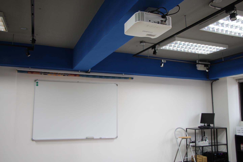 固定式投影機及投影幕